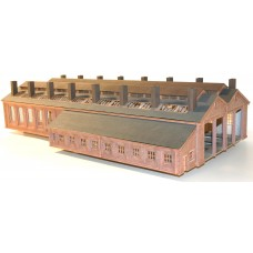 4mm Extended Pass through 4 Road Engine Shed