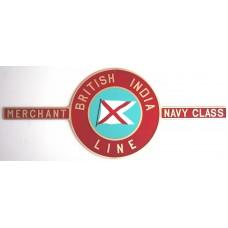 Merchant Navy Class Nameplate
