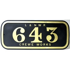 LNWR Whale Number Plate.