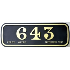 LNWR Webb Number Plate.