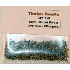 Semi Tubular 4mm dia rivets - 500